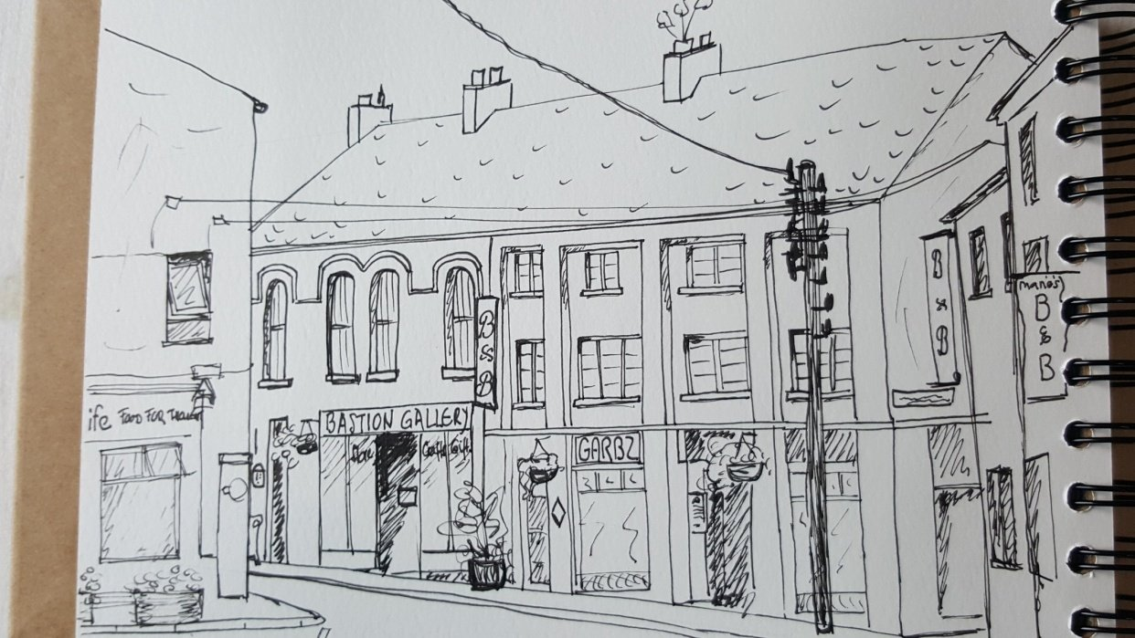 Sketching Athlone (Ireland) - student project