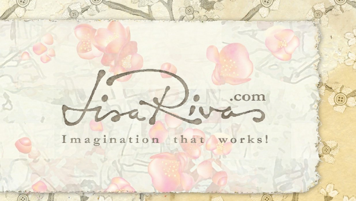 A branding label for Lisa Rivas - student project