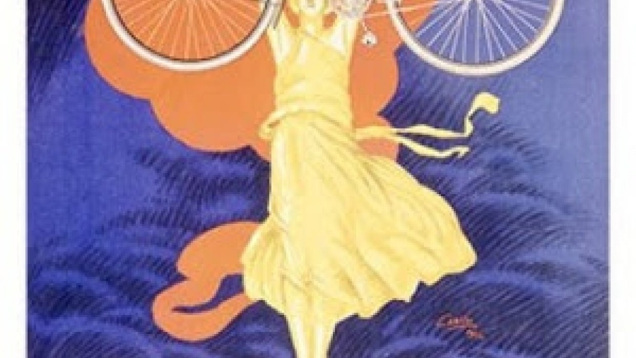 vintage bike ad - student project