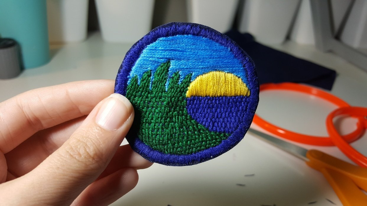 My hand embroidered patch.  - student project