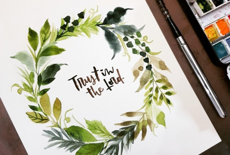 Leafy Wreath - student project