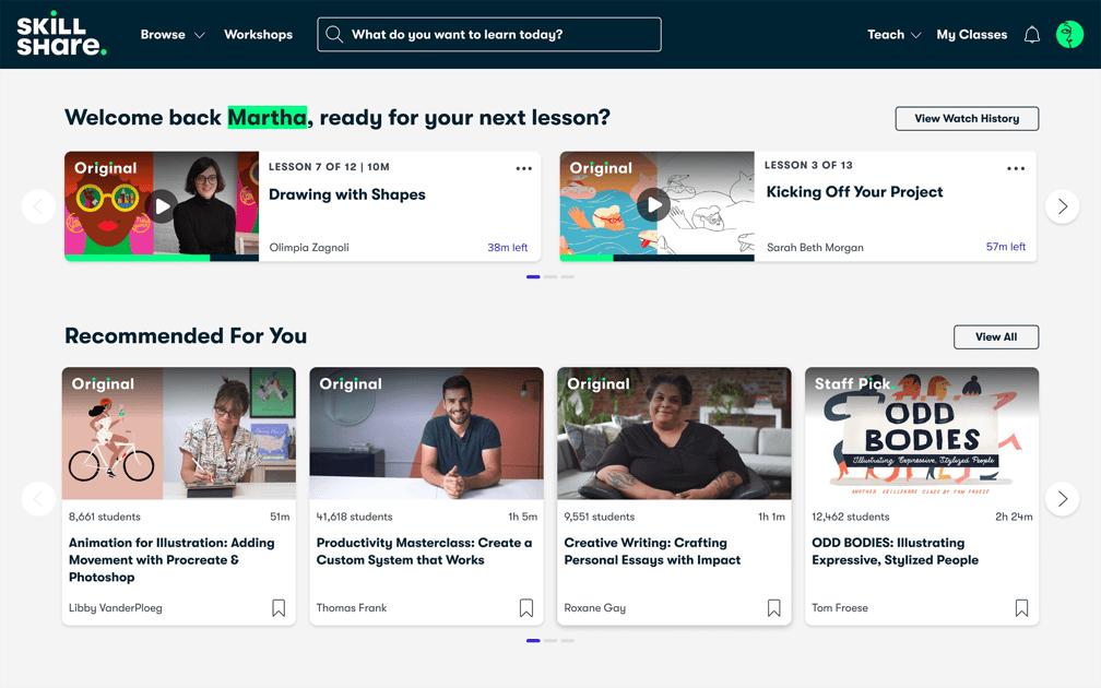 Online learning platform for new skills