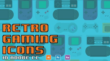 Retro Gaming Icons in Adobe CC 17