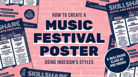 How to Create a Music Festival Poster Using InDesign's Styles