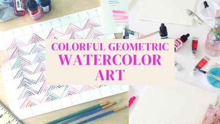 Colorful Geometric Watercolor Art