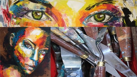 Palette Knife Acrylic Painting: Make your Portrait Step-by-Step!