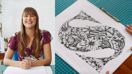 Illustrated Lettering: Drawing Intricate Floral Forms