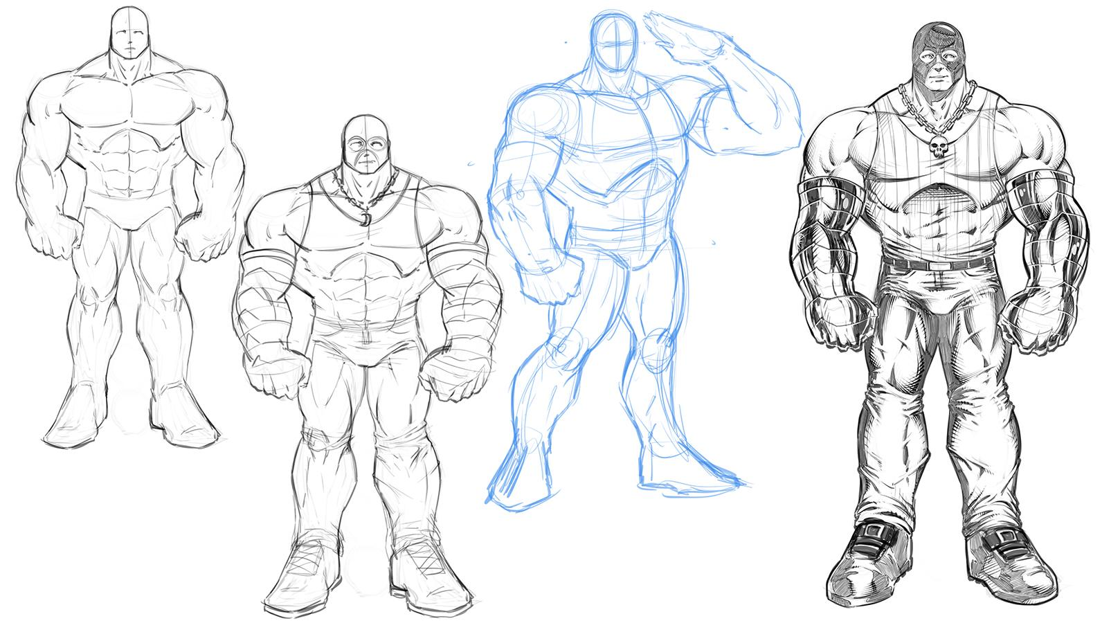 How To Draw Muscle Bound Brutes For Comics Robert Marzullo