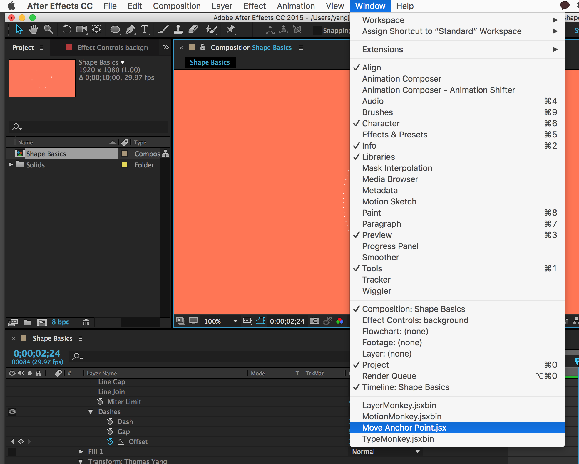 Move Anchor Point has some error in Adobe After Effect CC  - Skillshare