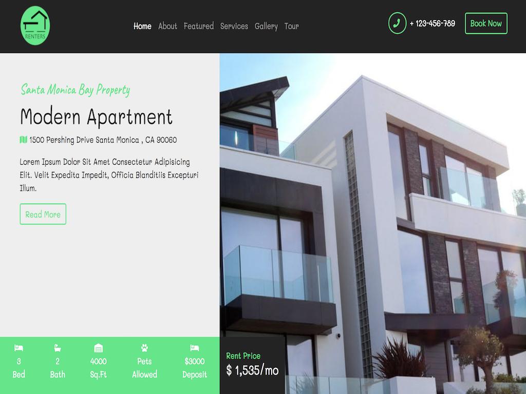 Responsive Renters Realtors Website from SCRATCH using