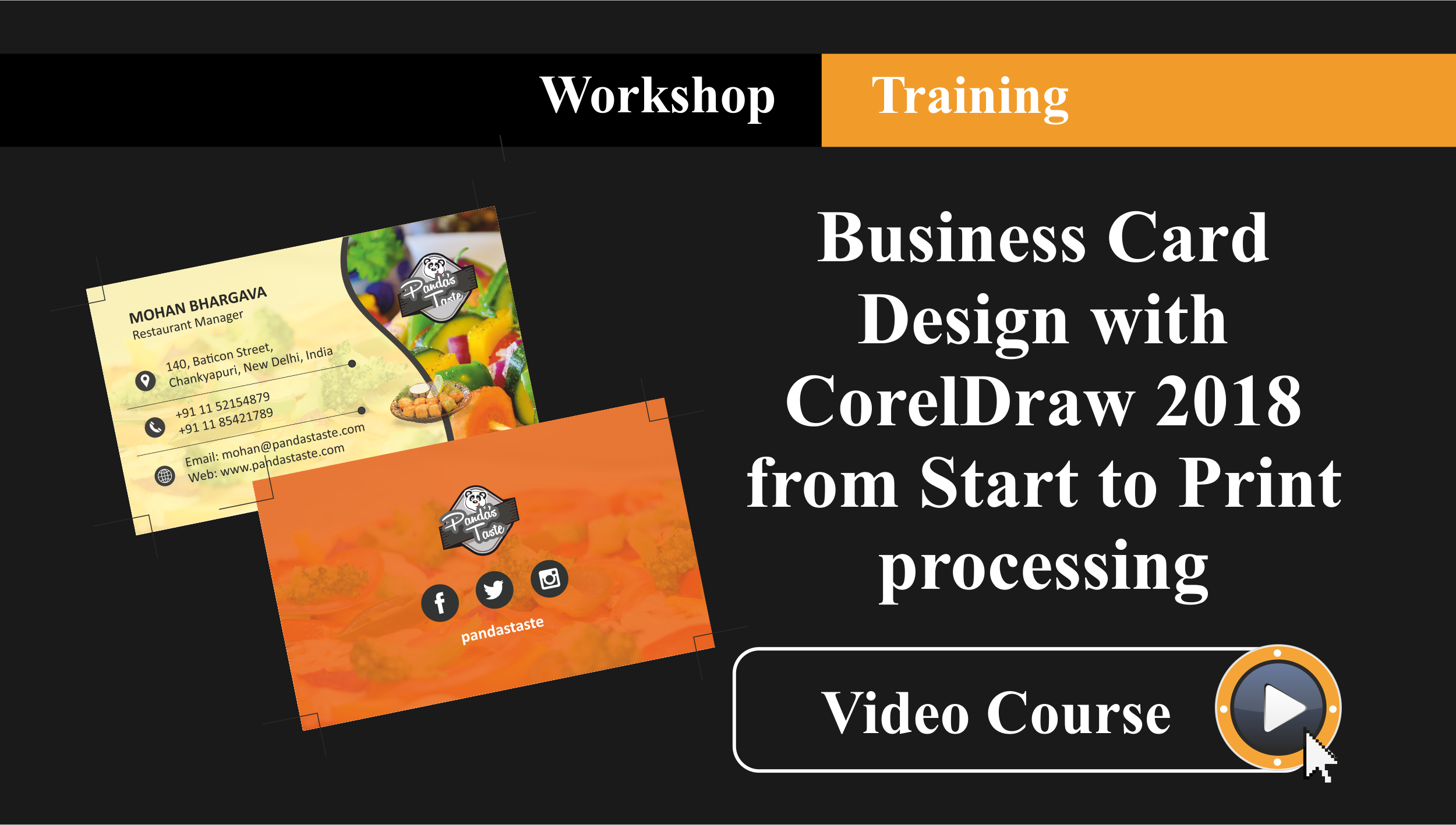 Workshop Training - Professional Business Card Design with