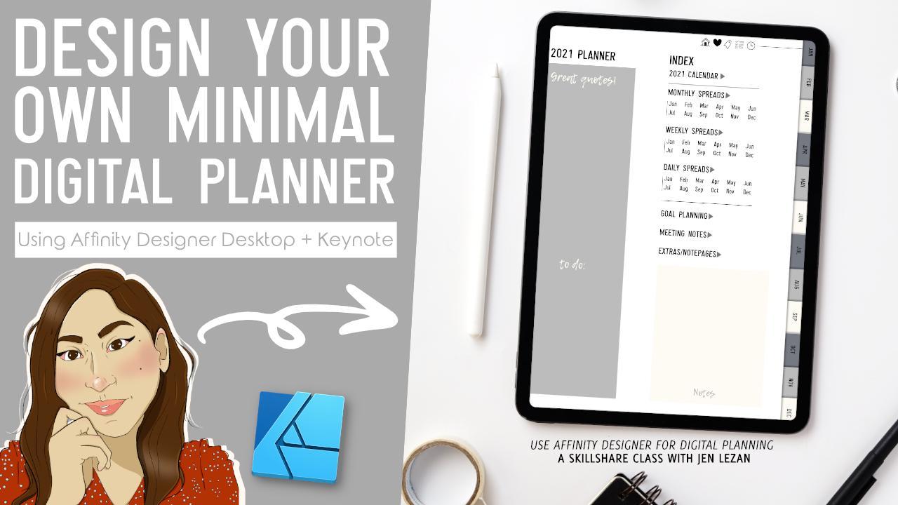 Design a Digital Planner for Goodnotes in Affinity Designer + ...