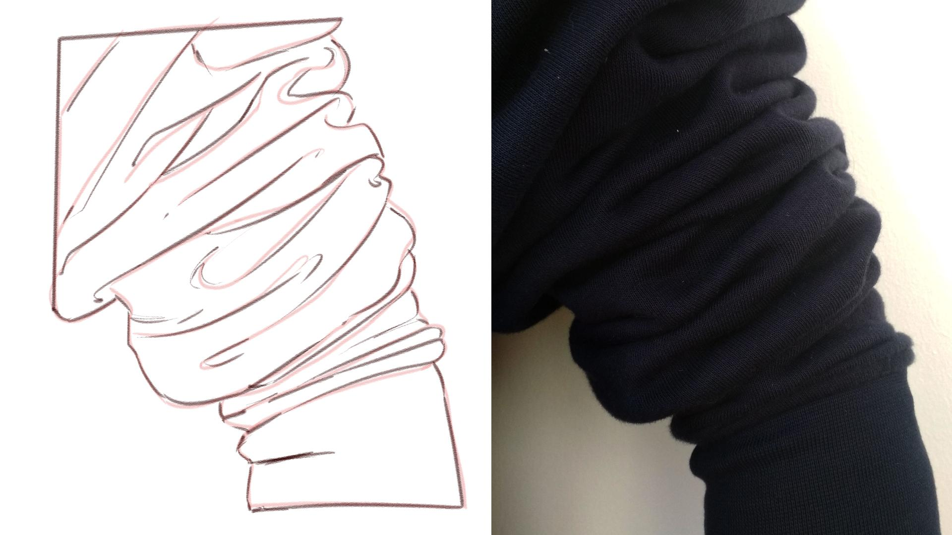 How To Draw Clothes: Hoodies With Spiral Folds! | Patricia Caldeira