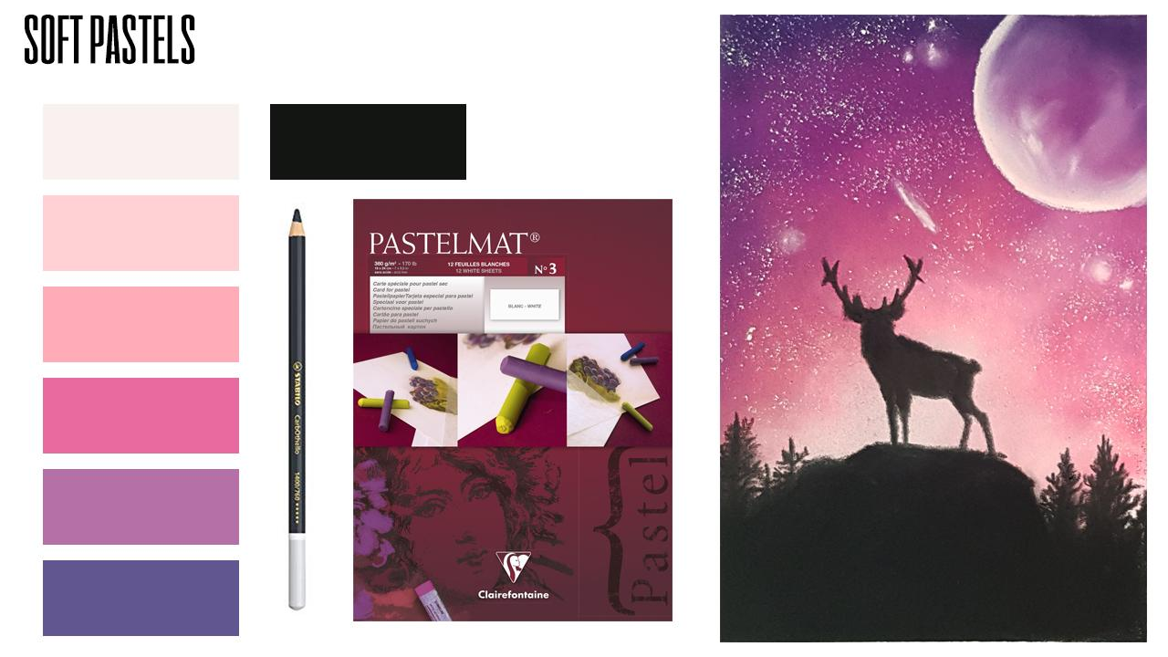 Soft Pastels For Complete Beginners How To Draw Galaxy Night Sky