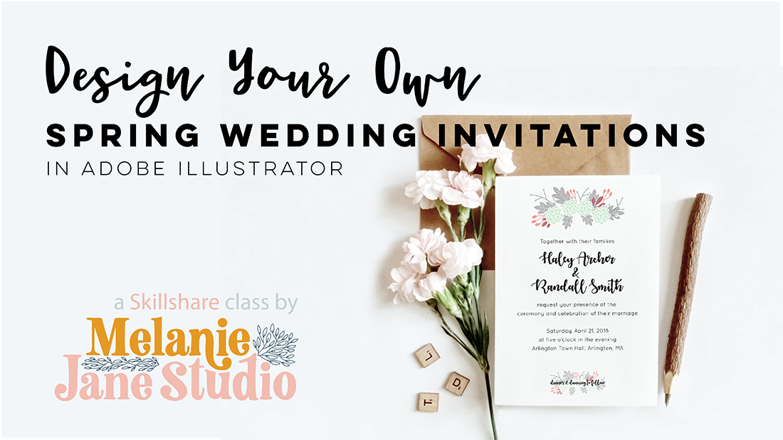Design Your Own Spring Wedding Invitation In Illustrator