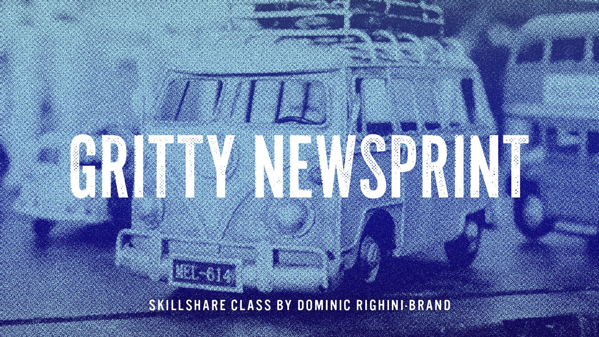 Gritty Newsprint Effect in Photoshop   Evgeniya & Dominic
