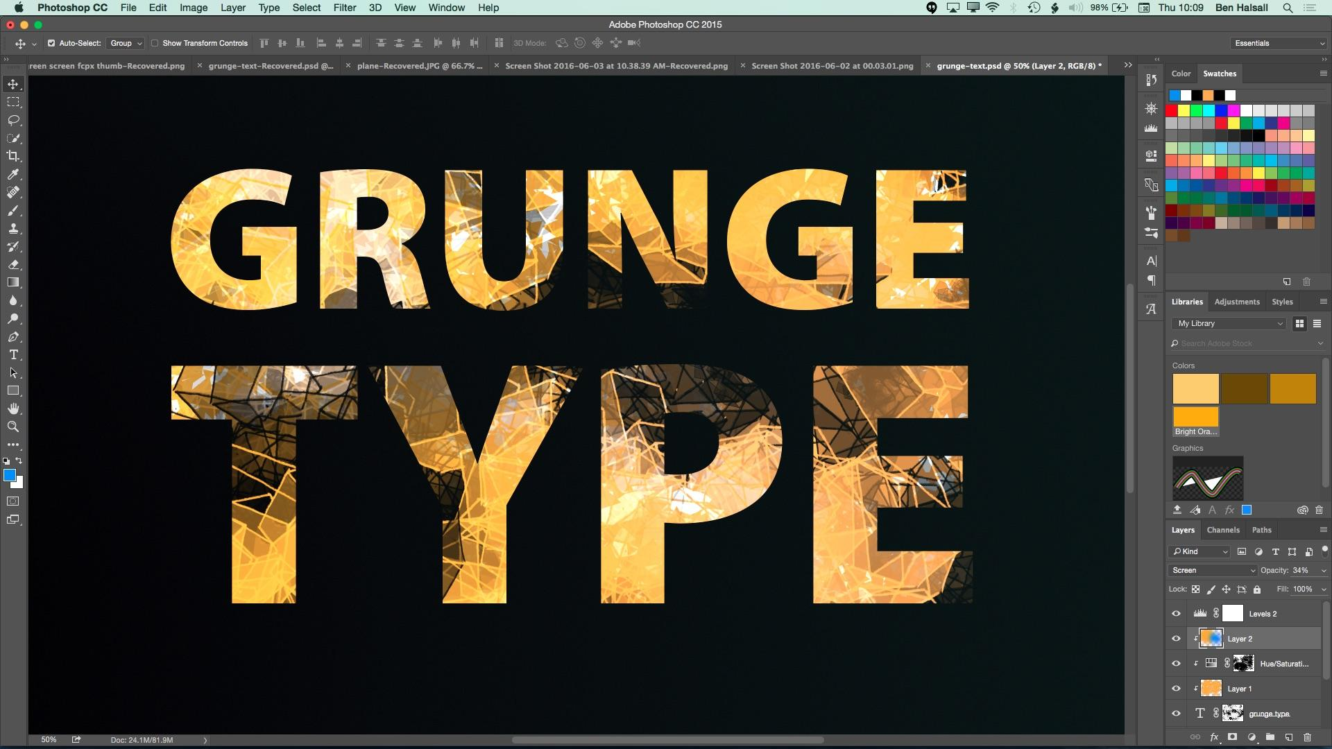 New Photoshop Class: Grunge Text with Custom Brushes