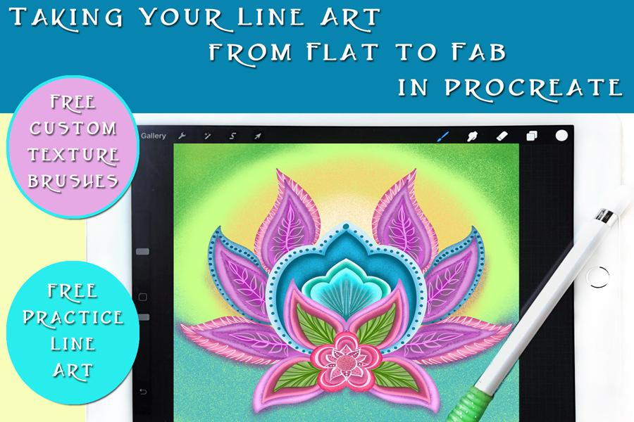 Take Your Line Art from Flat to FAB in Procreate - Free Texture