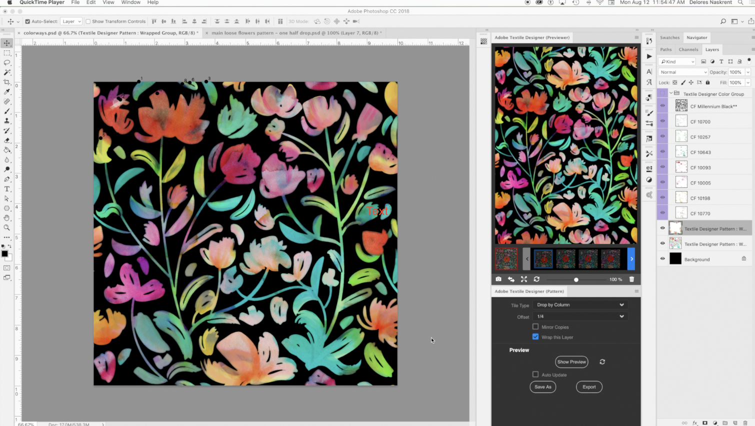 Pattern Design With The Photoshop Extension Adobe Textile Designer Delores Naskrent Skillshare