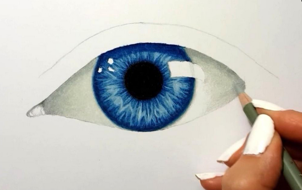 How to Draw an Eye with Colored Pencils   Jasmina Susak ...