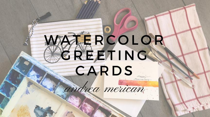 Join Watercolor Artist Andrea Merican As She Teaches You Step By To Create Your Own Hand Painted Greeting Cards Giving A Card