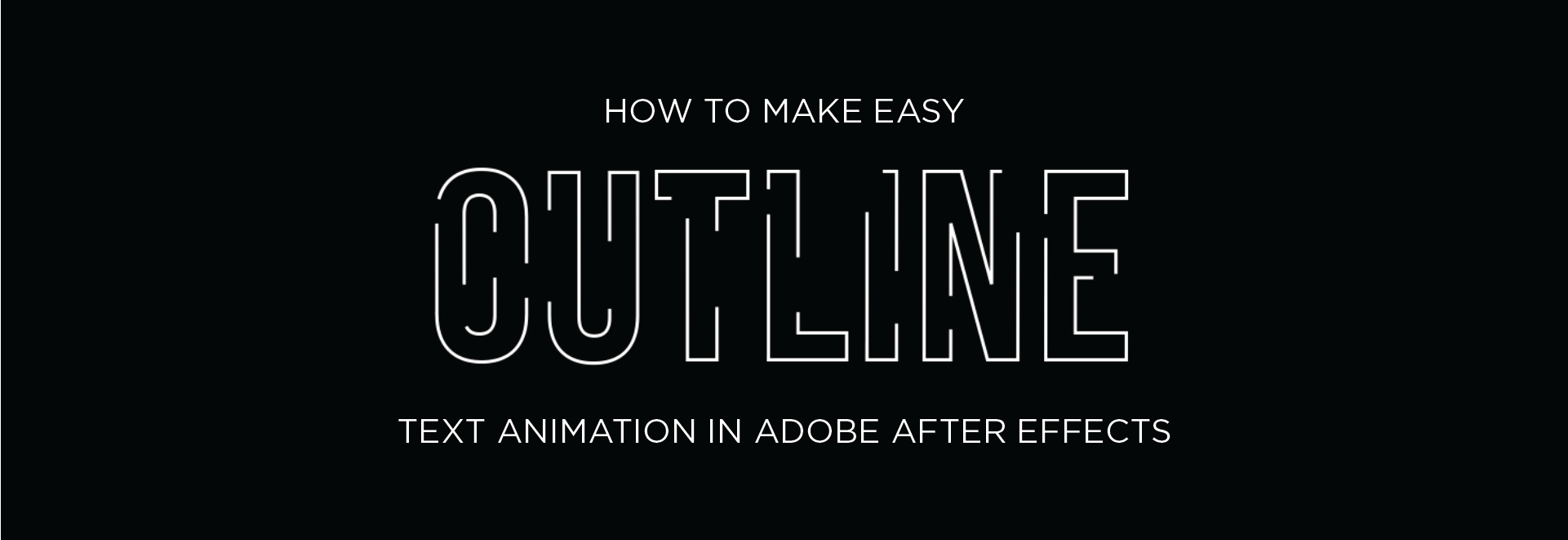 Easy Outline Animation Effect in Adobe After Effects using Trim