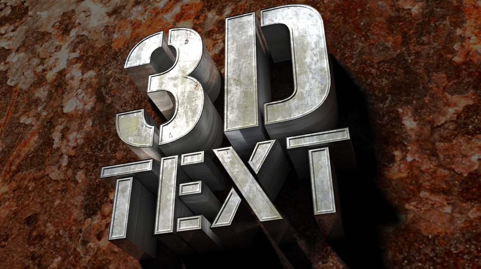 Create 3d text in photoshop elements