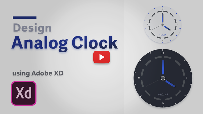 New Video → Design Analog Clock using Adobe XD - Skillshare
