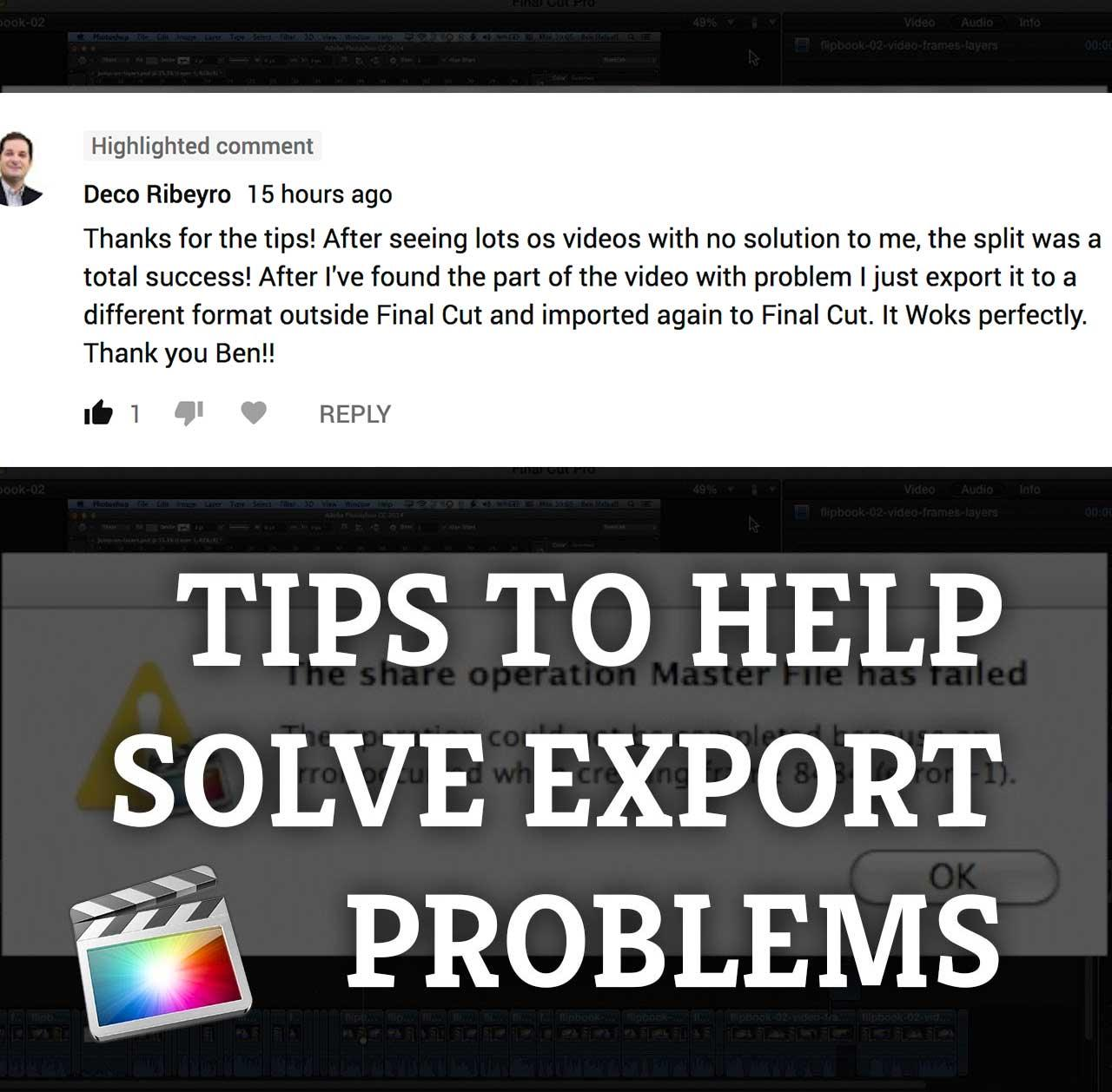 Final Cut Pro X: Tips for Solving Export Problems - Skillshare