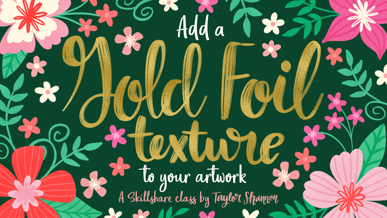 Photoshop & Illustrator Techniques: Add Gold Foil Texture to Your