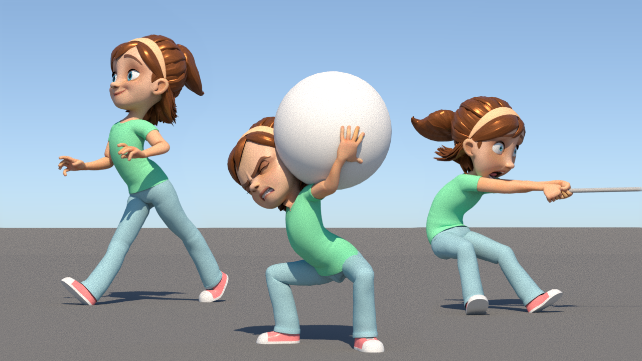 Dynamic Posing for 3D Animation in Autodesk Maya | Yone Santana