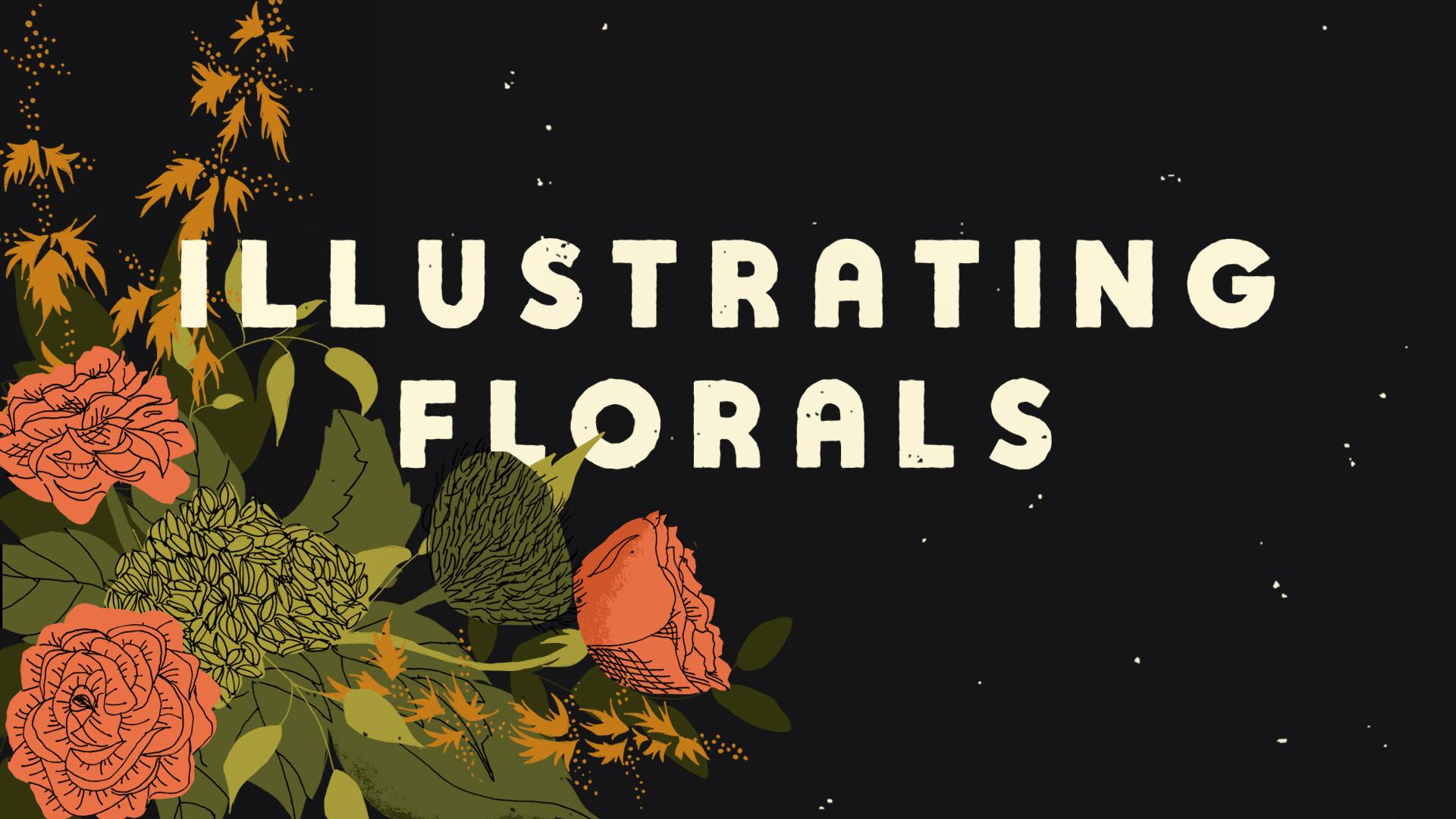 Illustrating Flowers & Arranging Bouquets in Photoshop | Dylan