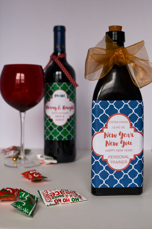 GREAT CHRISTMAS GIFT Create A Custom Wine Bottle Label Using A - Make your own wine label template