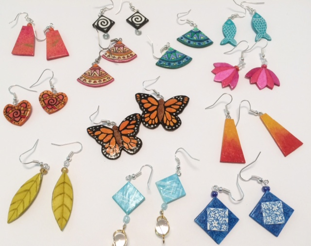 How To Make Beautiful Earrings From Paper Alison Kolesar