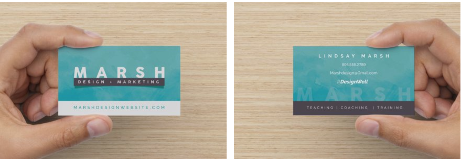 Create a business card from scratch using photoshop lindsay marsh we start off in adobe photoshop by setting up our template and creating the front and backside of our business card we learn how to export the design so we colourmoves