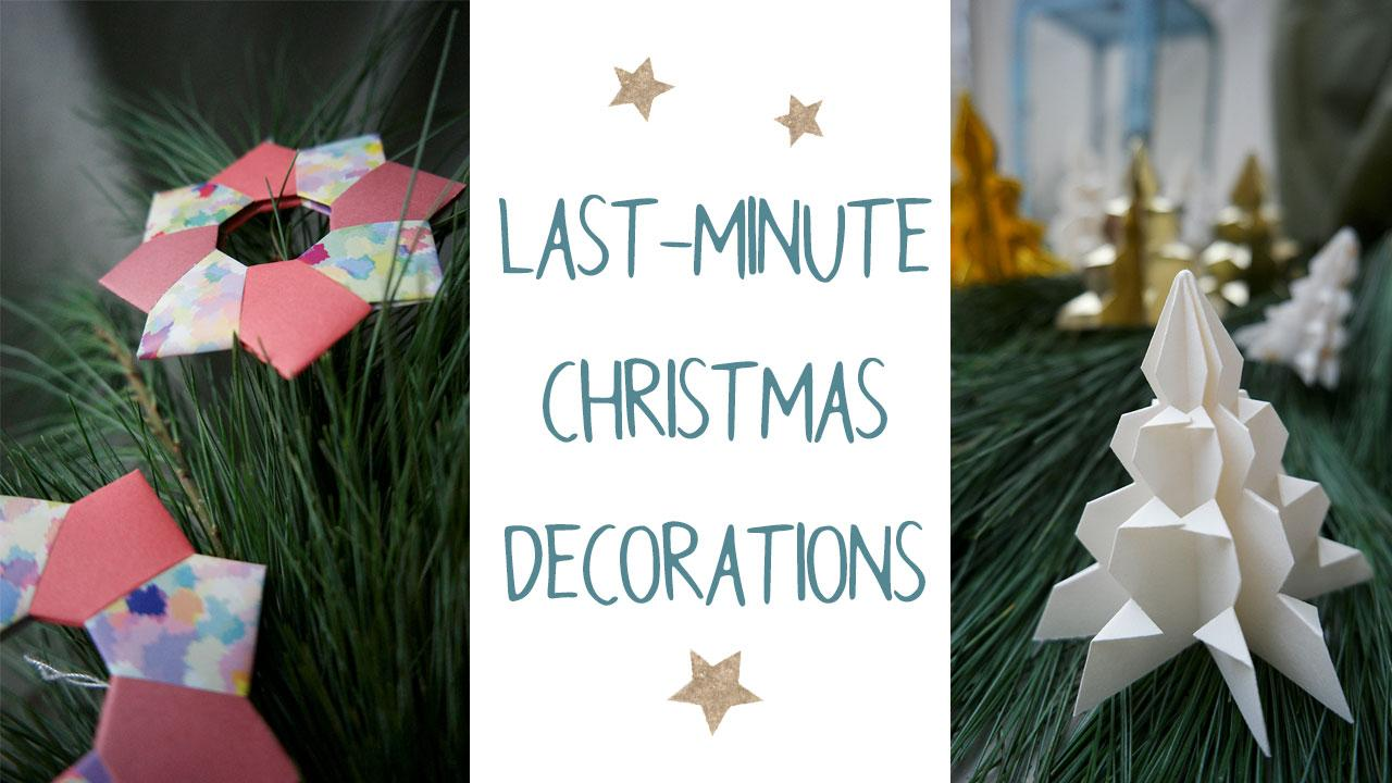 Last-minute Christmas Decorations
