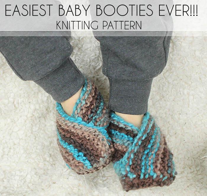How To Knit The Easiest Newborn Baby Booties Ever Free Class