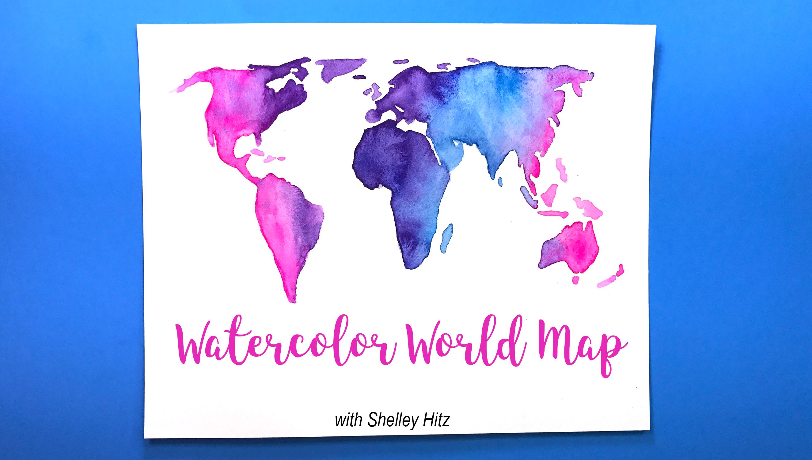 How To Create A World Map.How To Paint A Watercolor World Map Shelley Hitz Skillshare