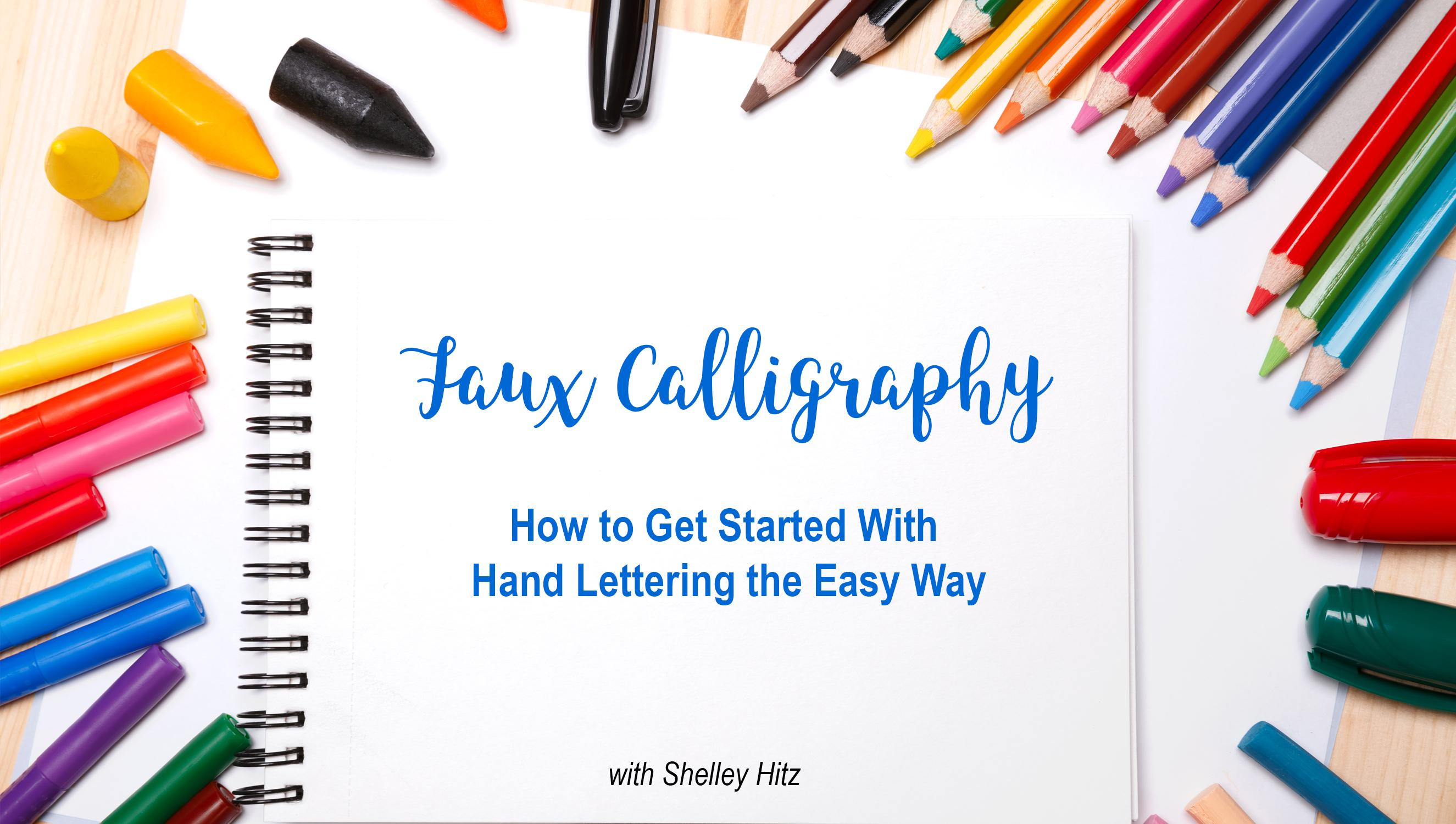 Faux Calligraphy How To Get Started With Hand Lettering