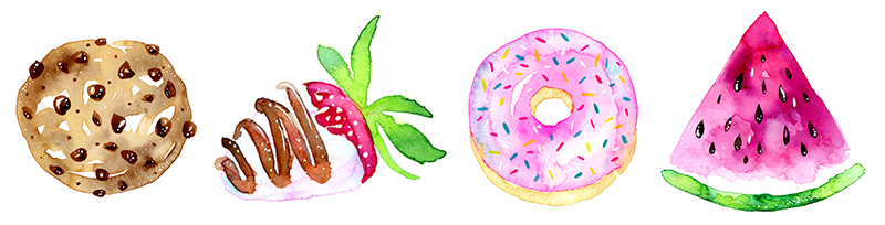 Lets Paint Some Super Cute And Easy Watercolor Sweets Treats Any Skill Level Can Do This Class Along The Way You Will