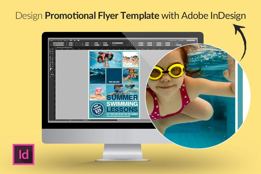 Design Promotional Flyer Template With Adobe Indesign Part