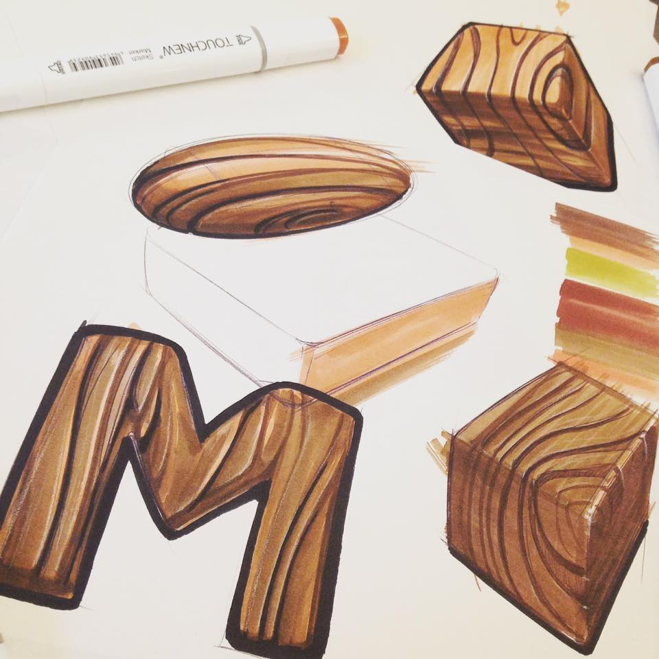 How To Sketch Wood Texture In 3 Easy Steps Marouane Bembli