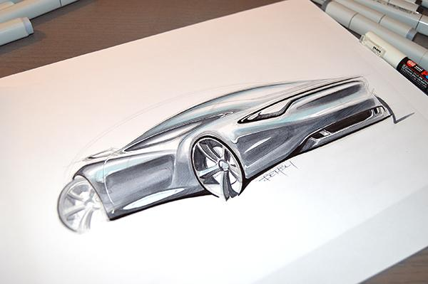 Car Design Sketching: How to sketch a sports car with markers ...