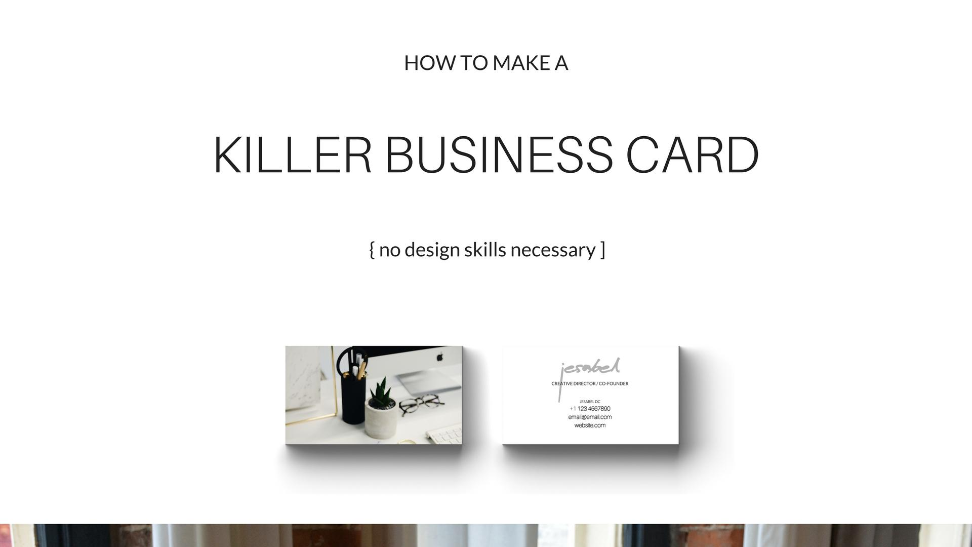 How to make a killer business card in minutes no design skills a697b730 colourmoves