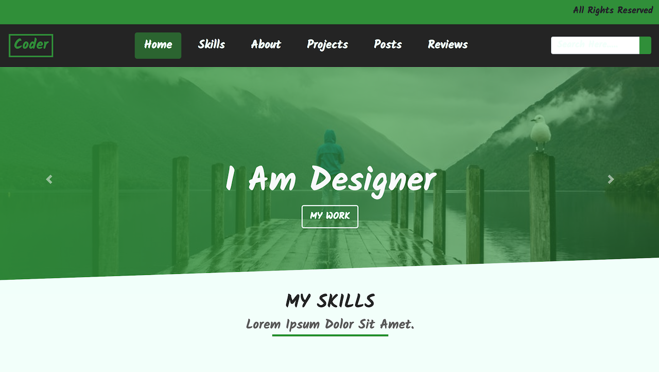 build a portfolio website with html5 css3 bootstrap 4 jquery from
