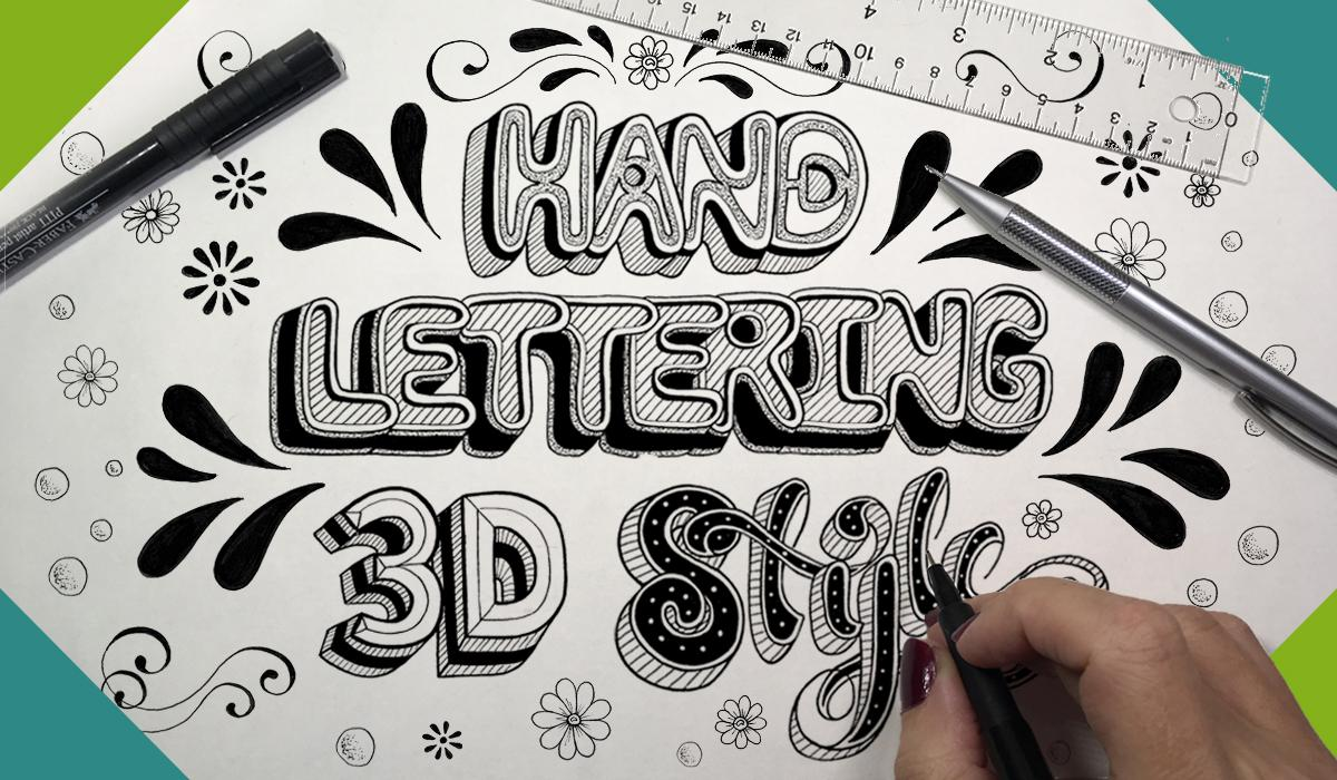 This Class Will Explore The Fun And Unique Ways You Can Add Depth Dimension To Your Hand Lettering Achieve That 3 Dimensional Look Letters