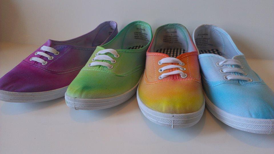 68a3ec80a4ea Tie Dye Canvas Shoes. Design Footwear. Updated Technique.
