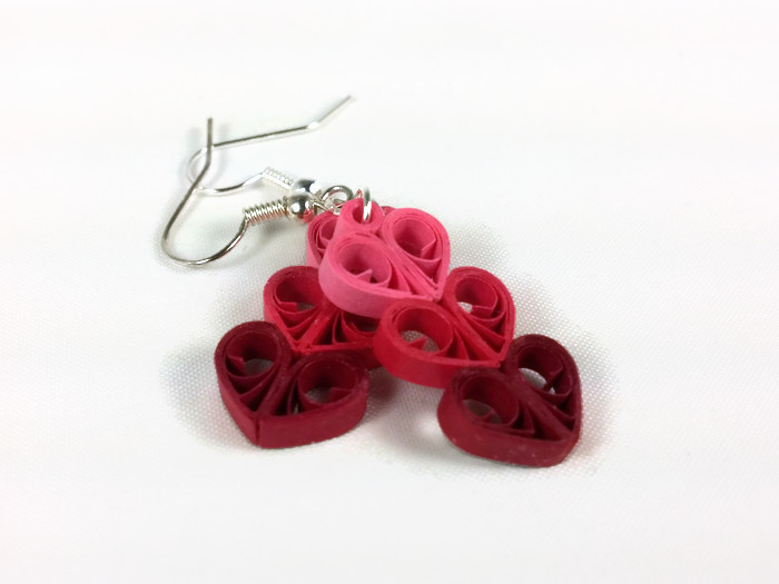 Paper Craft Making Filigree Heart Earrings With Quilling Marissa