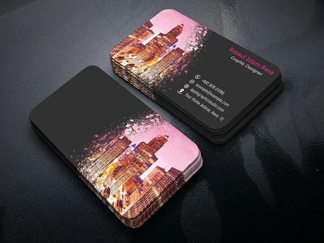 How To Make Creative Paint Splash Business Card - Photoshop