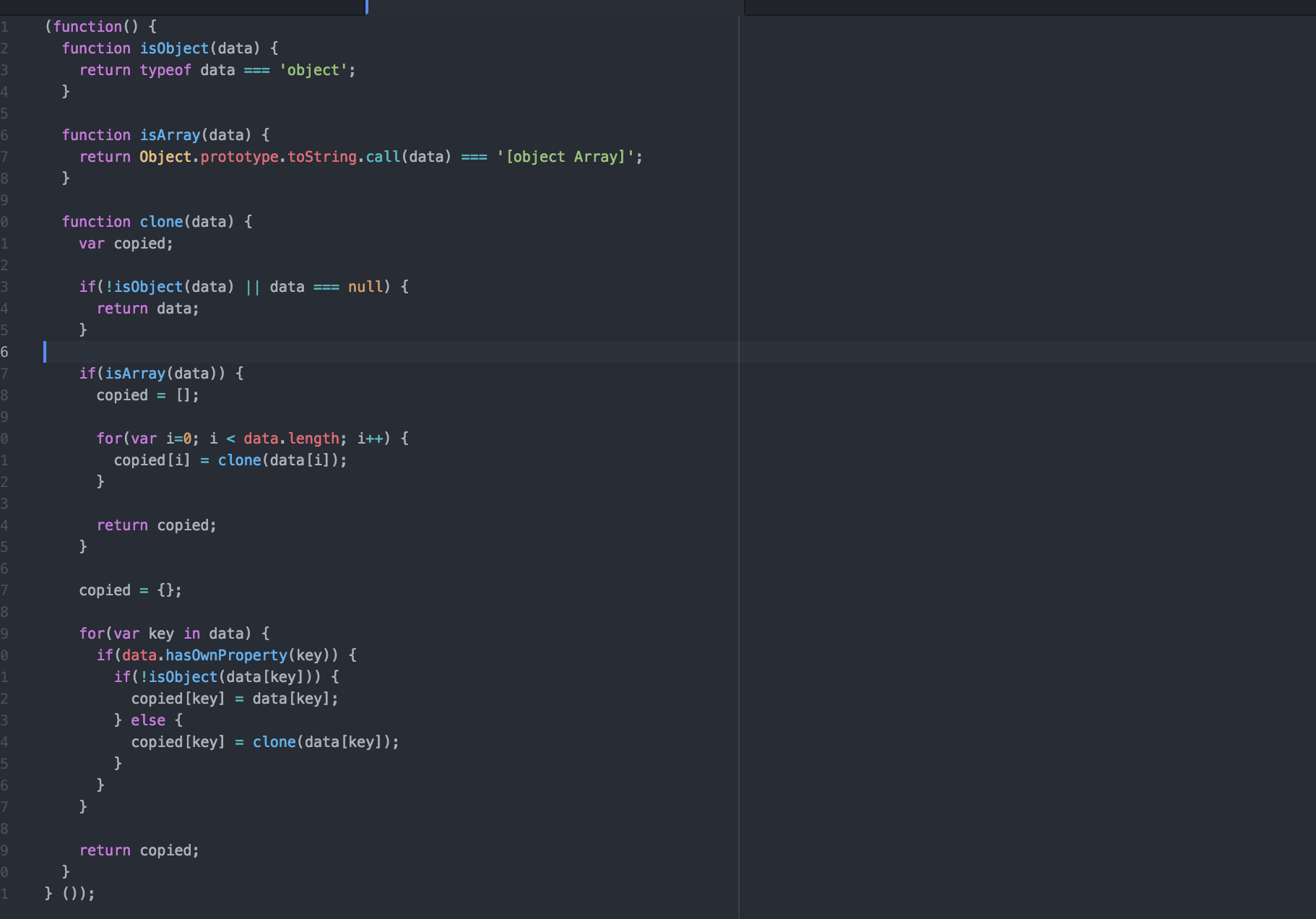 Learn plain Javascript concepts by building a utility that clones